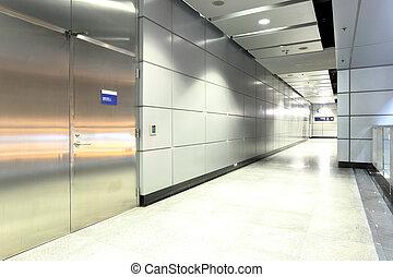modern train station in Hong Kong