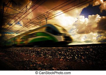 Modern train transportation