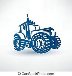 modern traktor vector symbol
