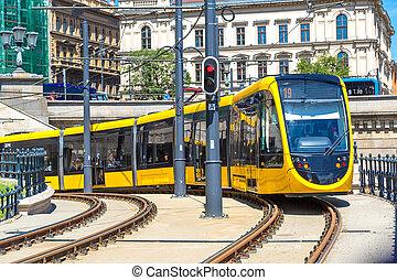 Modern tram in Budapest