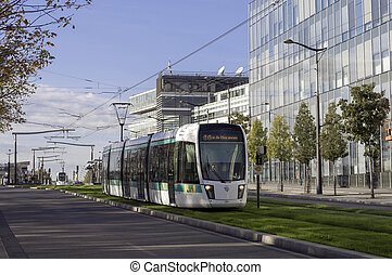 Modern tram in Paris