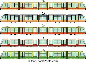Modern tram - Vector illustration of a modern tram