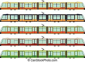Modern tram - Vector illustration of a modern tram
