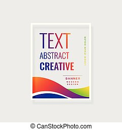 modern trendy colorful abstract banner design