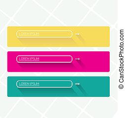 Modern trendy flat UI Design banners