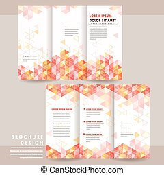 modern tri-fold brochure template design with colorful...
