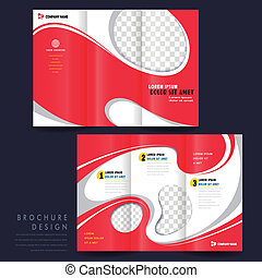 modern tri-fold template for advertising concept brochure