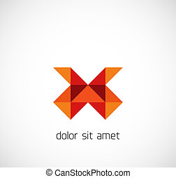 Modern triangle abstract business symbol
