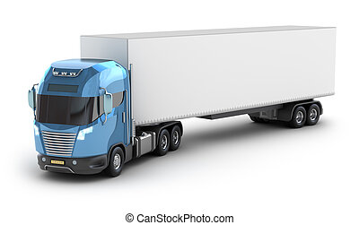 Modern truck with cargo container, My own Design.