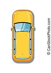 Modern universal car top view icon - Modern universal car...