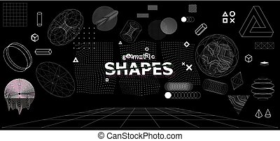 Modern universal trandy geometric shapes