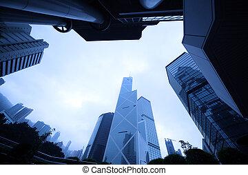 Modern urban architecture - Frame made of skyscraper ...