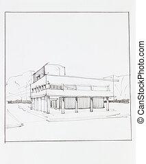 modern urban building