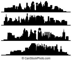 Modern Urban City Of Skyscrap...