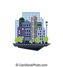 Urban Landscape. Vector Illustration