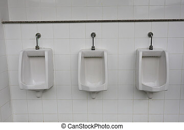 ... Modern Urinal In Men Bathroom.   Modern Urinal In Men.