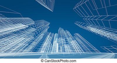 modern, város, fogalom