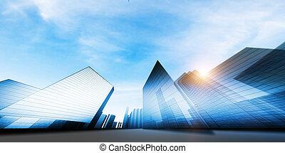 modern, város, terv