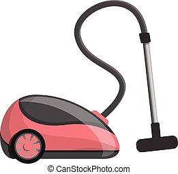 Modern vacuum cleaner icon, cartoon style