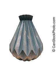 modern vase isolated on white background close up