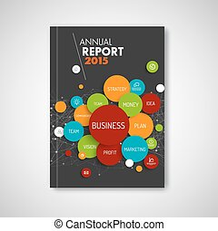 Modern Vector abstract brochure / report business template...