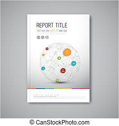 Modern Vector abstract brochure report design template -...