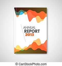 Modern Vector abstract brochure / report design template