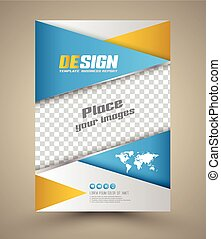 Modern Vector abstract brochure. Vector illustration. Book...