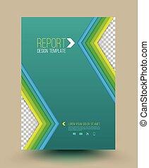 Vector abstract brochure.