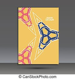 Modern vector abstract design. Cover template