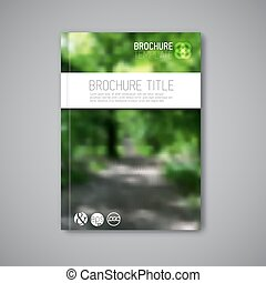 Modern Vector abstract nature brochure report design template