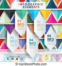 vector abstract paper label infographic elements