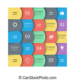 Modern vector abstract squares. Business infographics background template ready to place your content