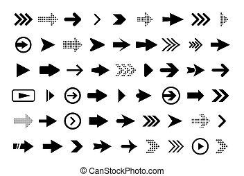 Modern vector arrows.