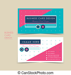modern vector business card set