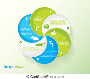 Modern vector ecology infographic template design for your presentation