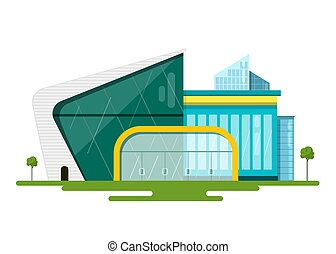 Modern Vector Flat Design Buildings. Abstract Architecture Illustration.