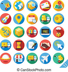 Modern Vector Flat Icons Set 11