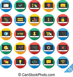Modern Vector Flat Icons Set 15