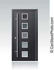 modern vector front door