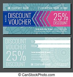 Modern vector gift coupon card voucher template