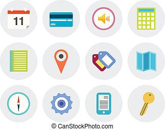 Modern vector icons set