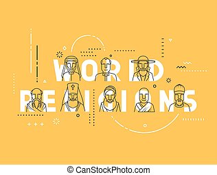 Modern vector illustration concepts religious people confession man