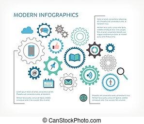 Modern vector infographic design