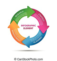 Modern vector infographic element, business strategy, vector illustration