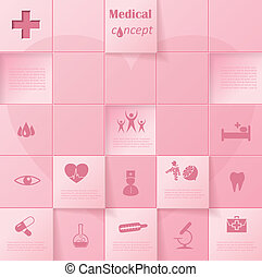 Modern vector infographic template design for your medical presentation