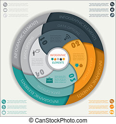 Modern vector infographic template with circle