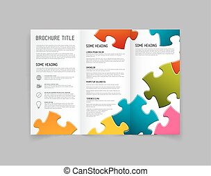 Modern Vector three fold brochure design template - Modern...