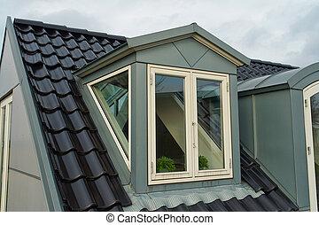 Modern vertical roof windows  Modern design vertical roof