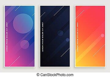 modern vibrant banners design set